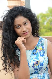 Actress Priyankha Stills in Floral Short Dress at Golmal Gullu Movie Pressmeet 0277.JPG