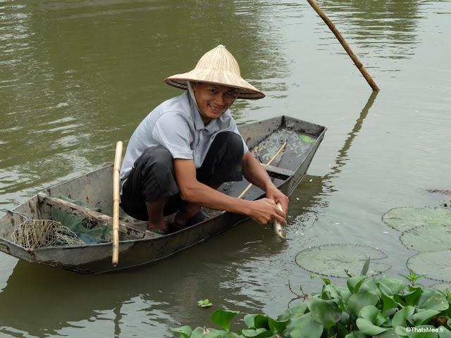 reserve naturelle van long ninh binh paysan pecheur barque tole poisson