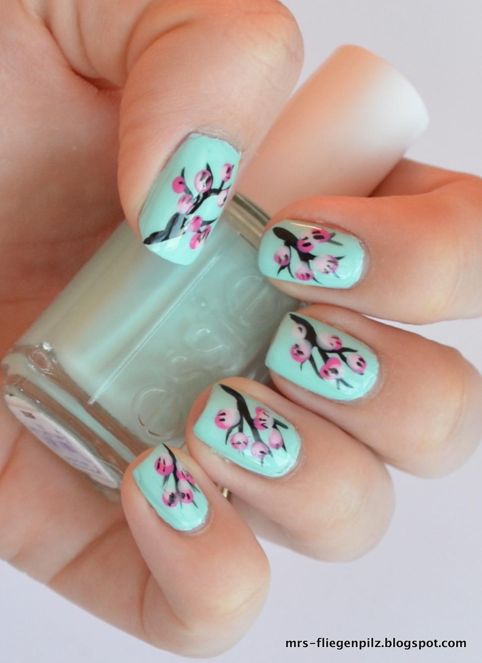 elblack nageldesign cherry blossom nails. Black Bedroom Furniture Sets. Home Design Ideas