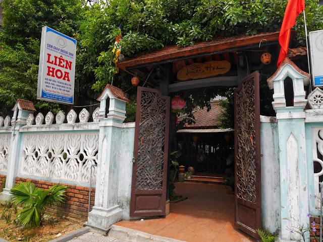 In front of  Lien Hoa, vegetarian restaurant in Hue