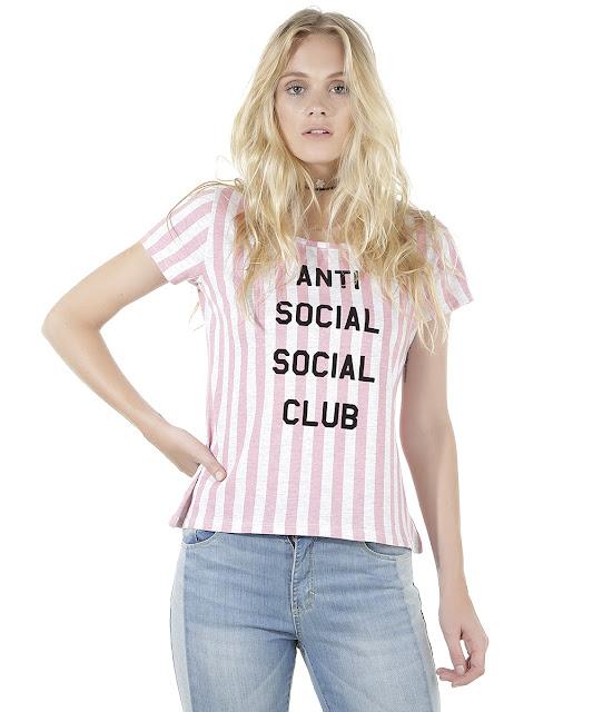 blusa listrada anti social club