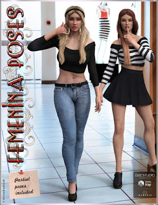 http://www.daz3d.com/femenina-mix-and-match-poses-for-genesis-3-female-s