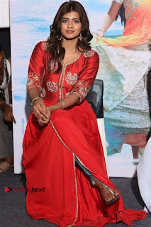 Actress Heba Patel Latest Stills in Red Dress at Mister Movie Trailer Launch Event  0031.jpg