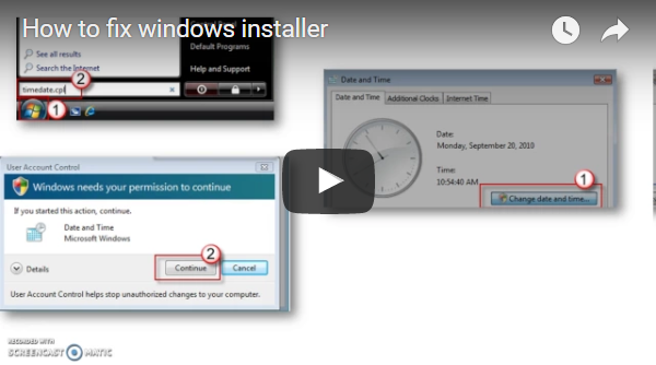 How to fix windows installer