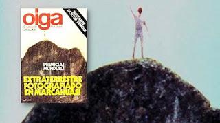 Extraterrestre de tres metros de altura fotografiado en Marcahuasi, Perú - 1982