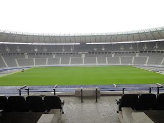 Dit uitzicht moet Adolf Hitler hebben gehad toen de Olympische Spelen in 1936 geopend werden