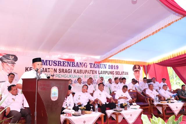 Pemkab Lamsel Guyur Kecamatan Sragi Anggaran Pembangunan Rp 43 Miliar