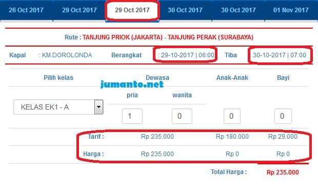 harga tiket kapal pelni kelas ekonomi jakarta surabaya