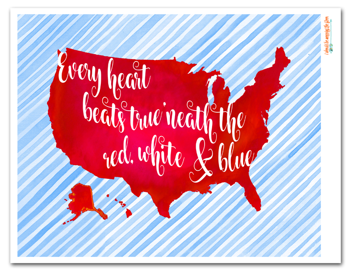 Free Fourth of July Printable | 8x10"