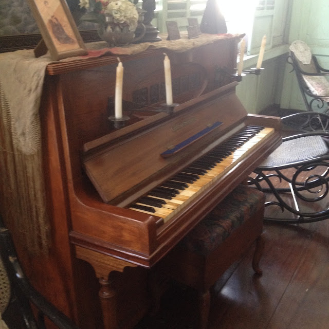 Old piano at the Don Bernardino Jalandoni Ancestral House and Museum