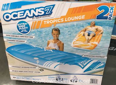 Costco 1096187 - Fun in the sun with the Aqua-Leiser Oceans 7 Tropics Lounge