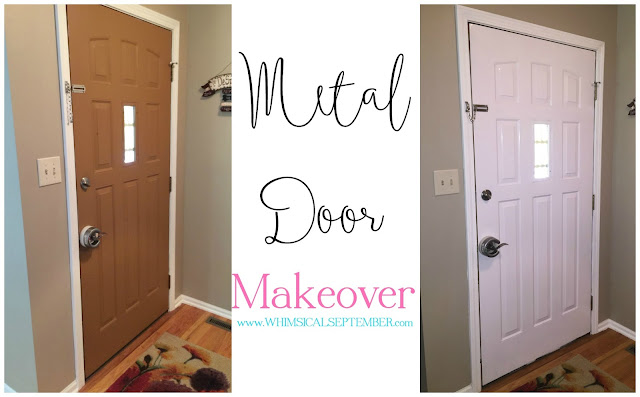 metal door makeover a very naughty dog and an ad space giveaway. Black Bedroom Furniture Sets. Home Design Ideas