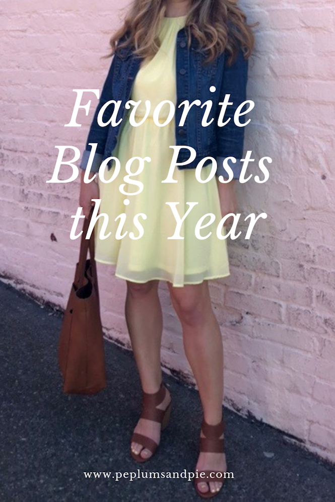 Favorite Blog Posts This Year // Peplums & Pie