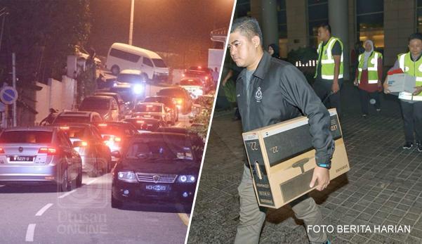Polis Geledah Rumah Najib, Barangan Peribadi Dan Beg Tangan Di Rampas!