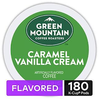 BEST Green Mountain Coffee Roasters Caramel Vanilla Cream Light Roast Coffee Keurig Single-Serve K-Cup Pods, 10 pk./18 ct.'