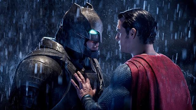 batman superman fight face off movie still