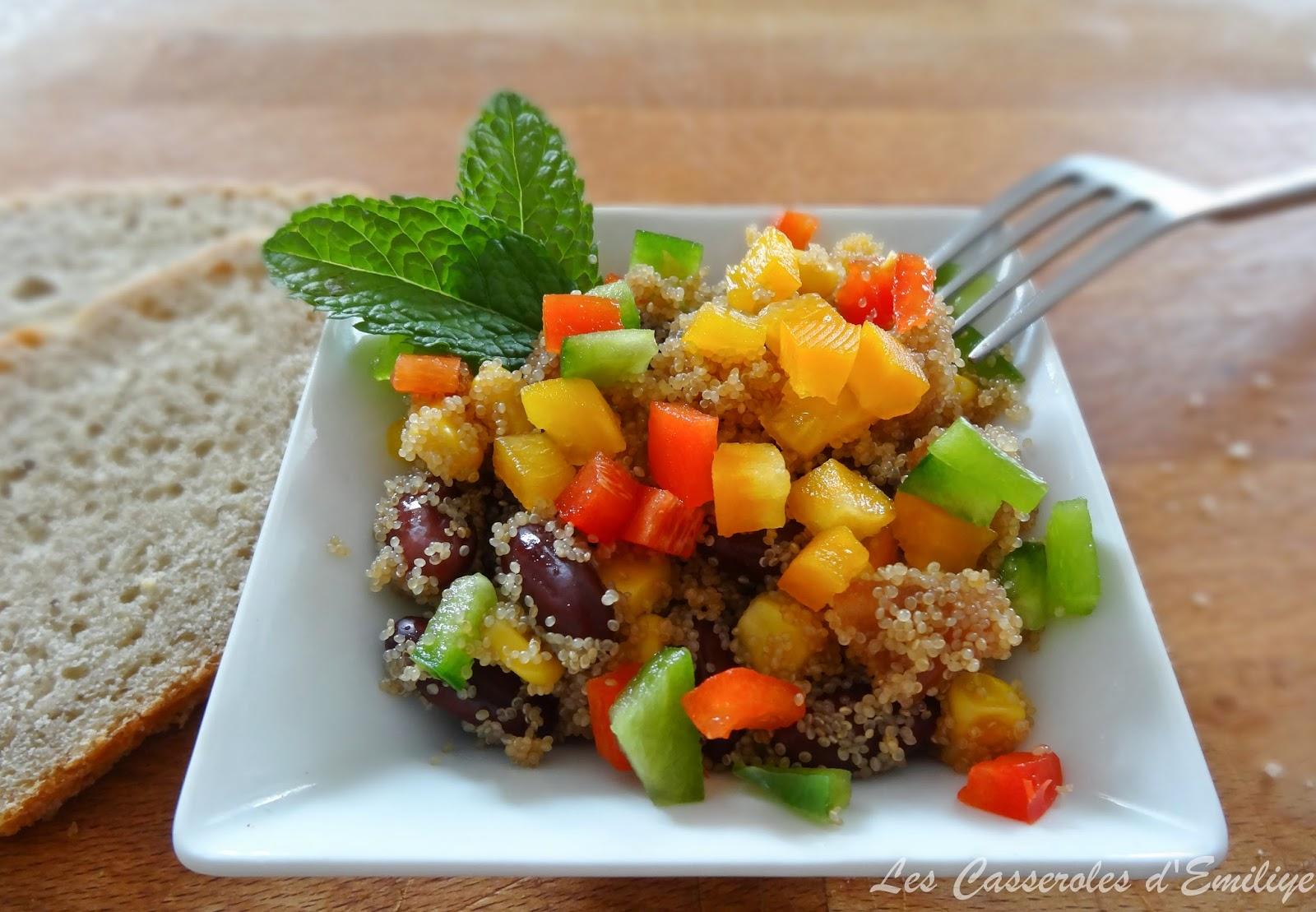 les casseroles d 39 emiliye salade de poivrons haricots rouges et graines d 39 amarante. Black Bedroom Furniture Sets. Home Design Ideas