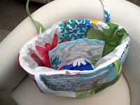 custom made fitted faux patchwork bag   http://panpancrafts.blogspot.de/