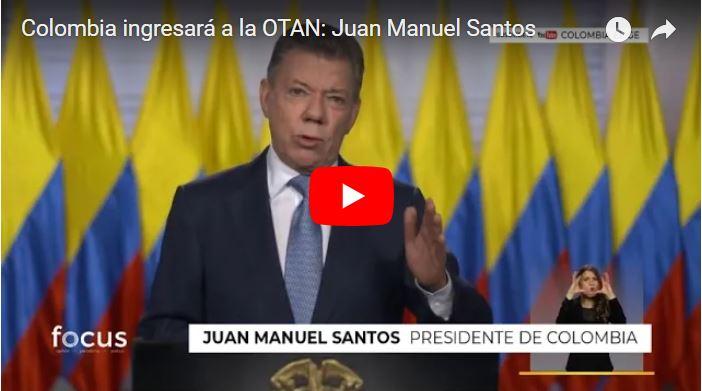 Santos anuncia ingreso de Colombia a la OTAN y Maduro tiembla