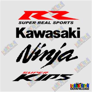 Download KAWASAKI NINJA RR SUPER KIPS Logo Vector Cdr
