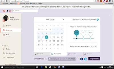 klout también te ayuda a publicar en el mejor horario posible