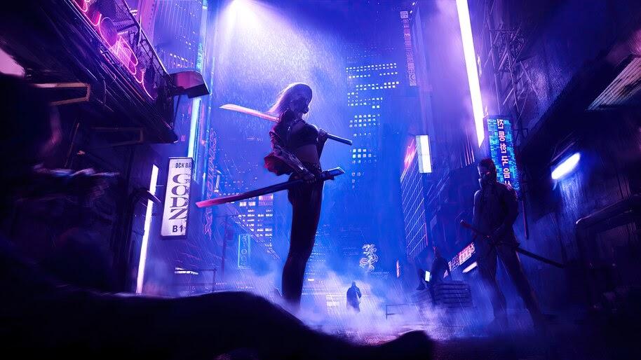 Cyberpunk, Night, City, 4K, #4.3087