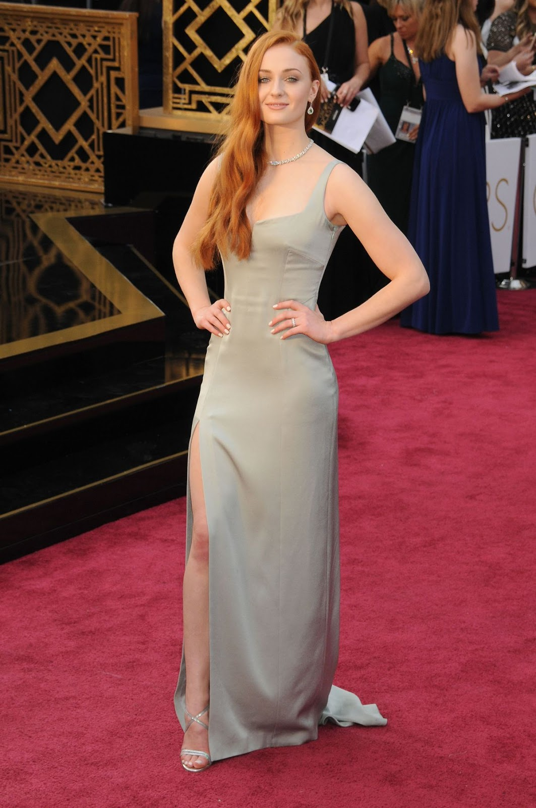 X‑Men Apocalypse actress Sophie Turner at 88th Annual Academy Awards in Hollywood