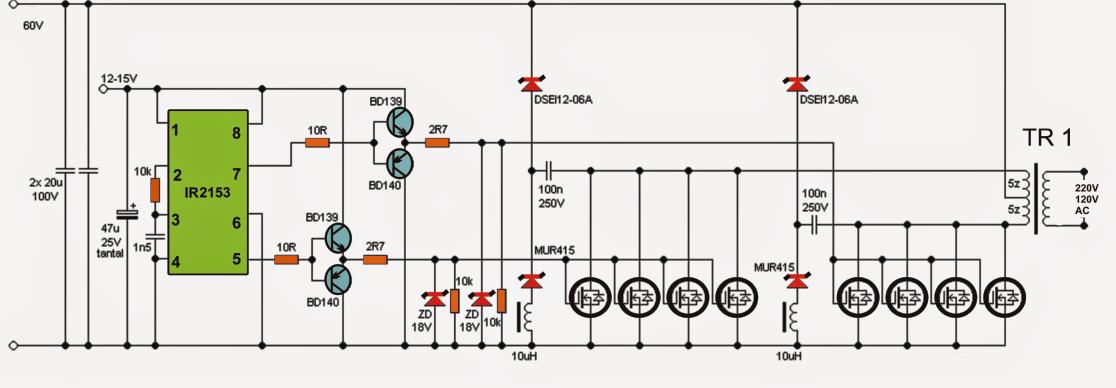 5kva Ferrite Core Inverter Circuit