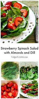 Strawberry Spinach Salad with Almonds and Dill [from KalynsKitchen.com]
