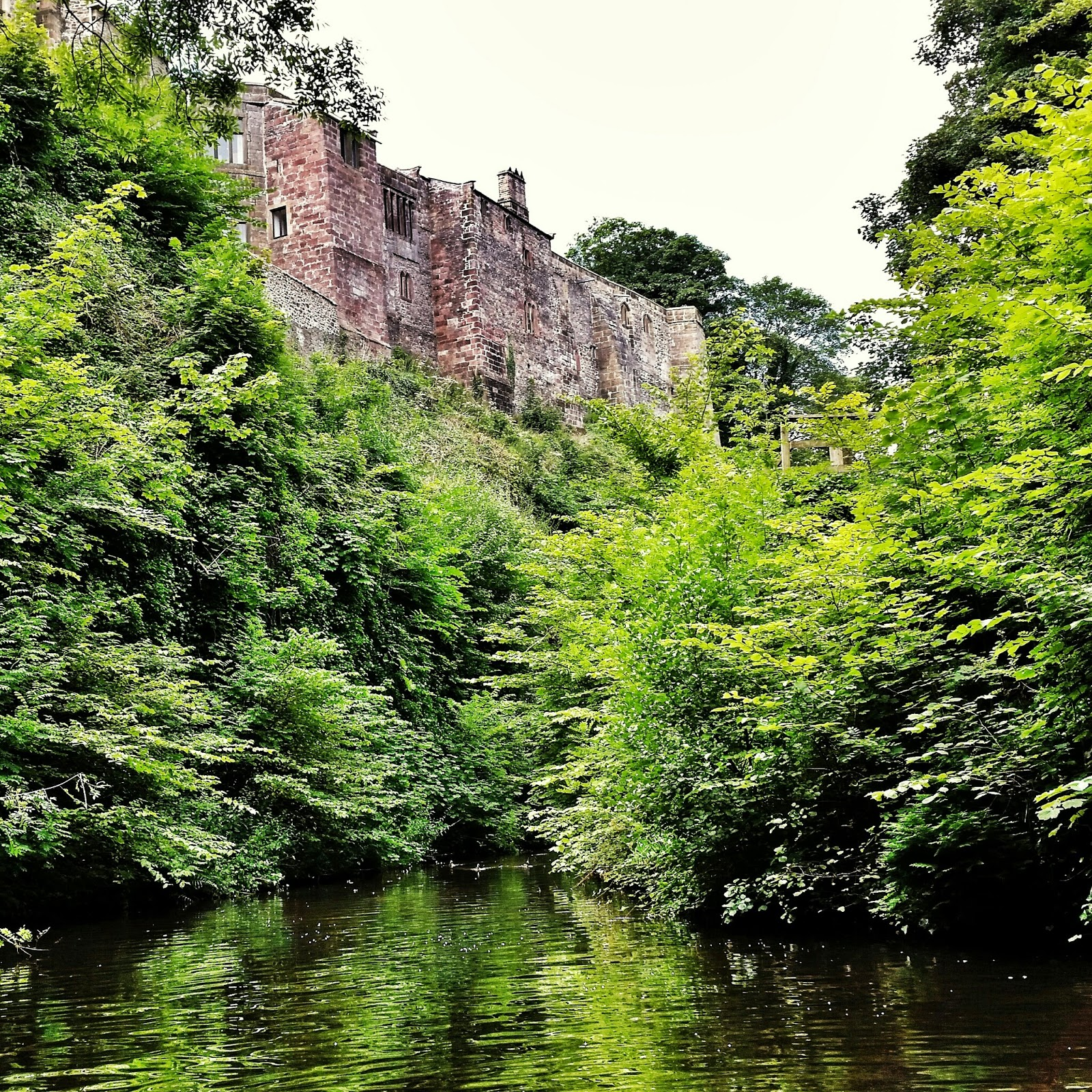 Skipton castle from the canal