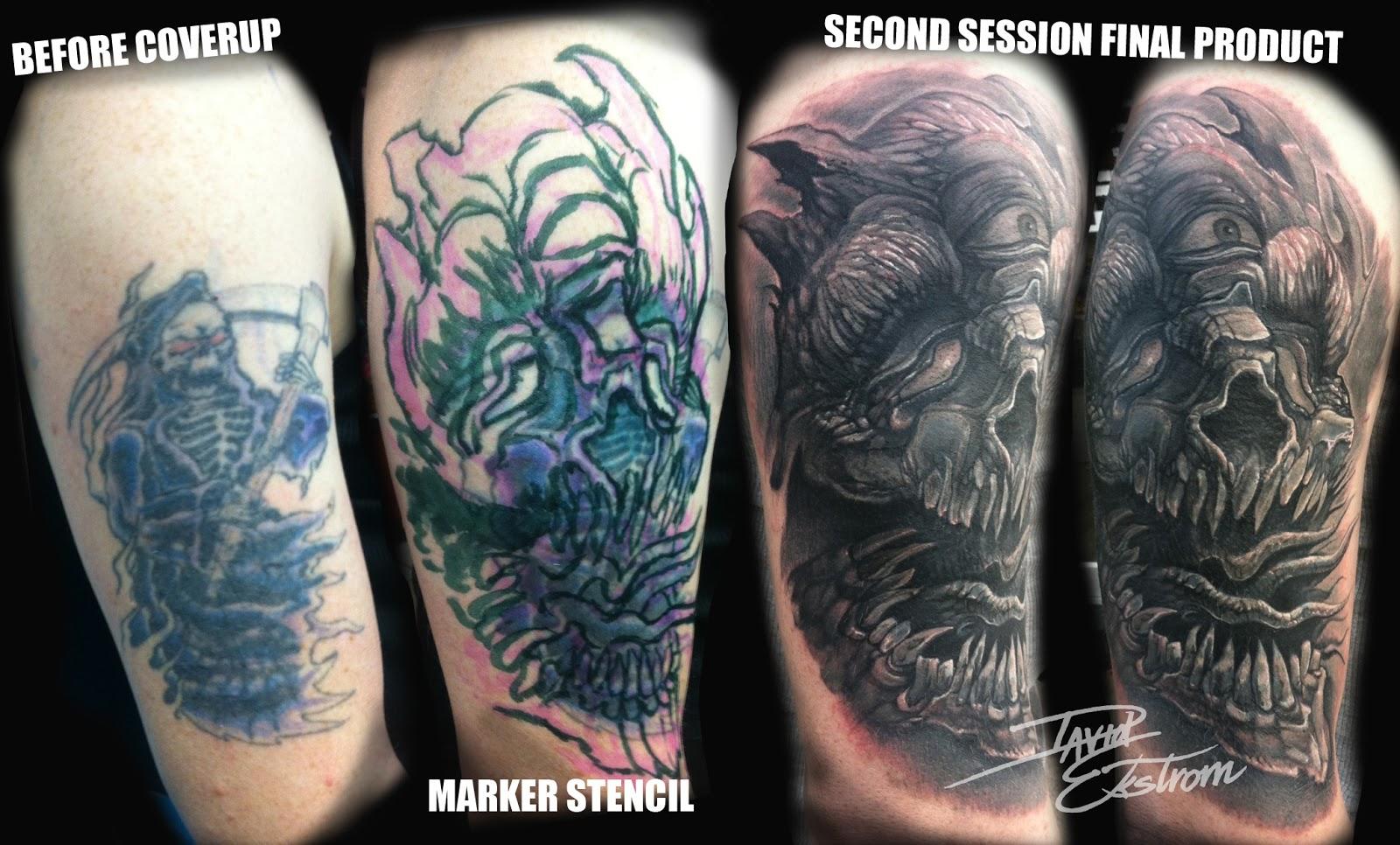 Cover Up Tattoos For Men: Tattoos & Art By: DAVID EKSTROM: November 2012