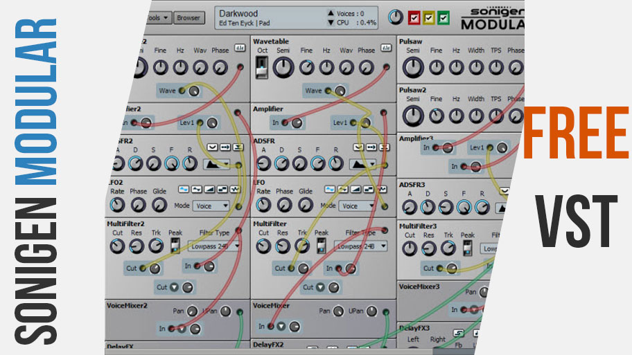 Sonigen Modular Free Modular Synth VST Plugin | Media Learns