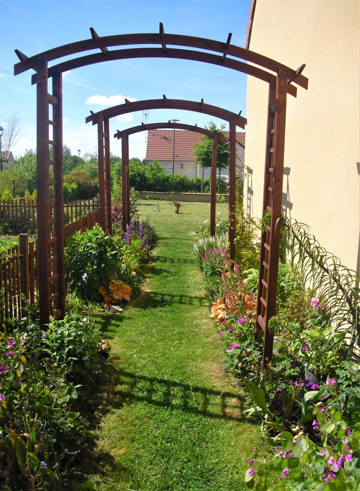 Mon petit jardin en Sologne: En ce moment... dans l\'allée fleurie