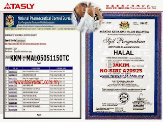 Produk Tasly Lulus KKM dan Halal Jakim