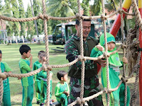 Peduli Generasi Muda  Prajurit Yonif Mekanis 412 Kostrad Rutin Latih Outbound