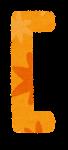 角括弧のイラスト文字(左)