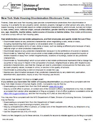 Fair Housing Disclosure / Notice / Website Requirements - Effective June 20, 2020
