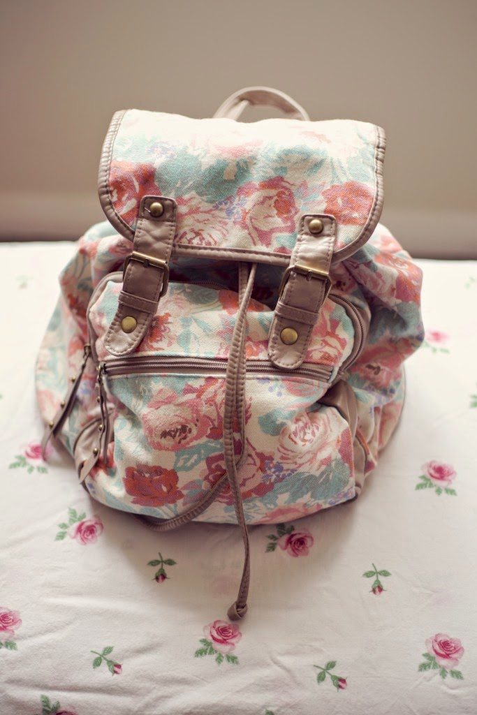 Floral print backpack from New Look
