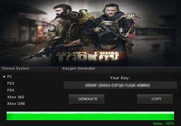 escape from tarkov cd key free