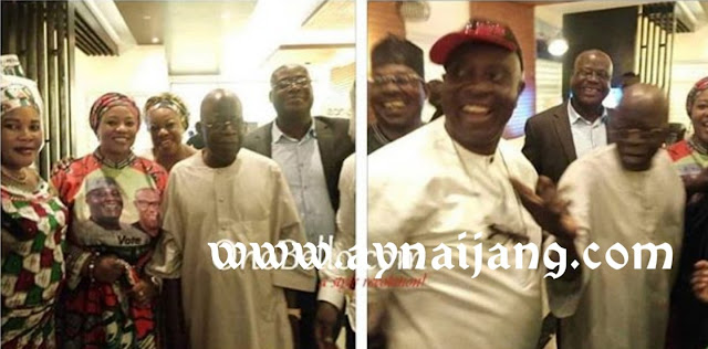 Asiwaju Bola Tinubu Pictured With PDP Officials In Lagos, After Flinging APC Flag Away Earlier