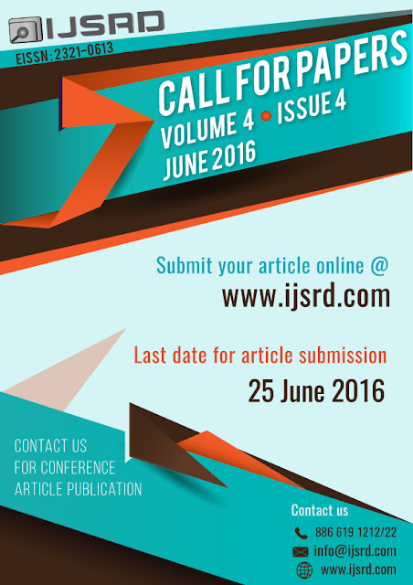 IJSRD call for paper June 2016