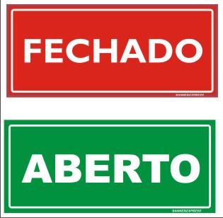 FECHADO ABERTO 30x13cm (bxa) b175c3ea36c