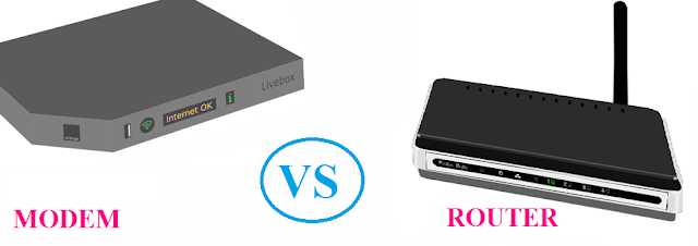 Modem VS Router, difference between the Modem and the Router