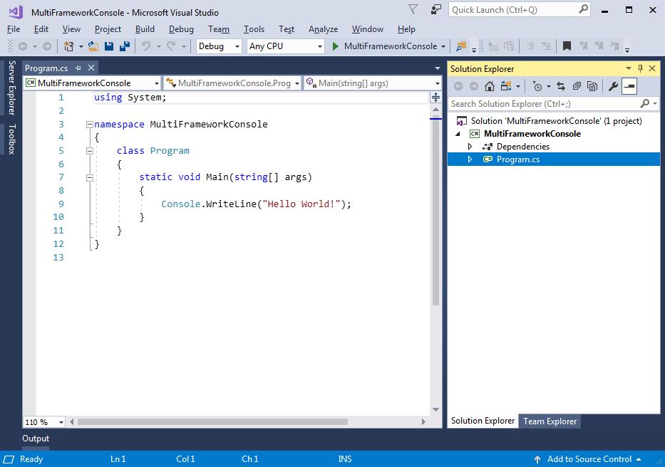 Target Multiple Frameworks in  NET Core 2 x App | KANSIRIS