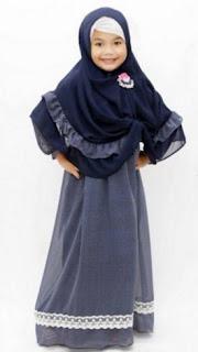 Baju gamis muslim anak syar'i