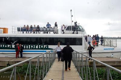 Guias de turismo apresentarão roteiros da região durante a travessia de Catamarã Ilha-Iguape , durante os festejos de Bom Jesus