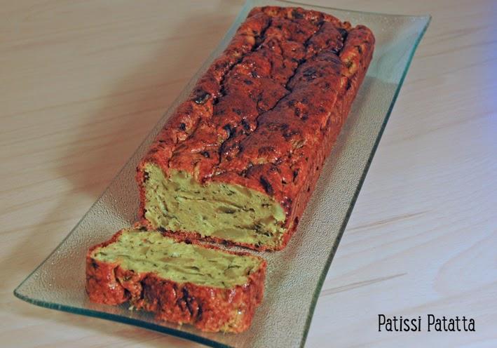 recette de pain de courgettes, pain de courgettes aux saveurs indiennes, buffet, loaf of zucchini