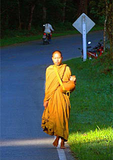 Buddhist Monk travel in north Thailand