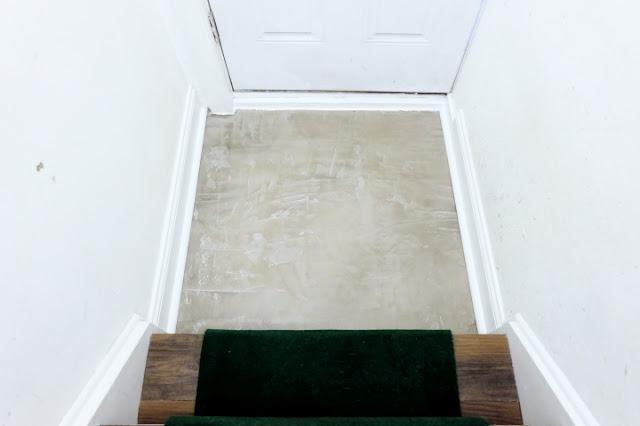 concrete floor hide tile