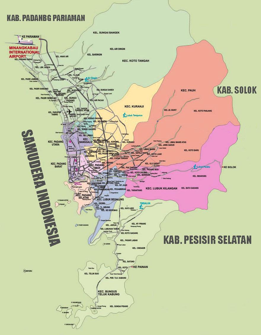 Gambar Peta Padang Lengkap peta jalan